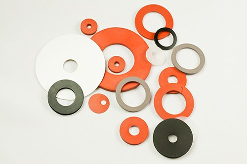 Silicone-cut-washers